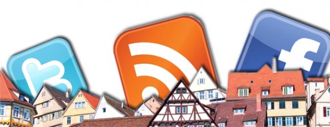 Grafik E-Mail Kommunikation und Social Media