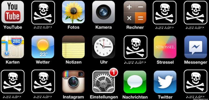 Grafik Riskante Smartphone Apps