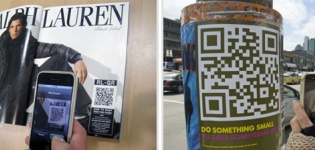 Grafik Social Media in Kombination mit QR Codes