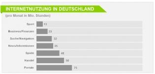 Grafik Internetnutzung in Deutschland