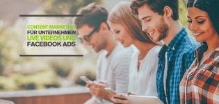 Facebook Content Marketing Tipps für Unternehmen mit Live Videos und kombinierten Facebook Ads Reichweite Zielgruppen insight landingpage
