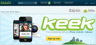 Das neue Social Video Network Keek - Startbild
