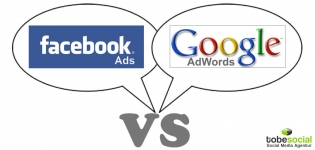 Grafik Studie Facebook Ads vs Google Adwords